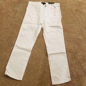 Brand NWT! Sanctuary White Cotton Blend crop Pants